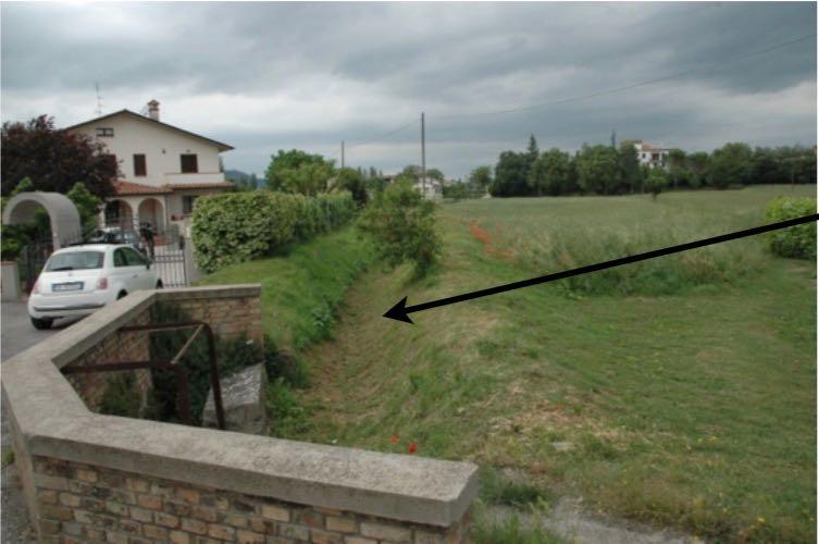 il vecchio canale che partiva dal torrente Carpina